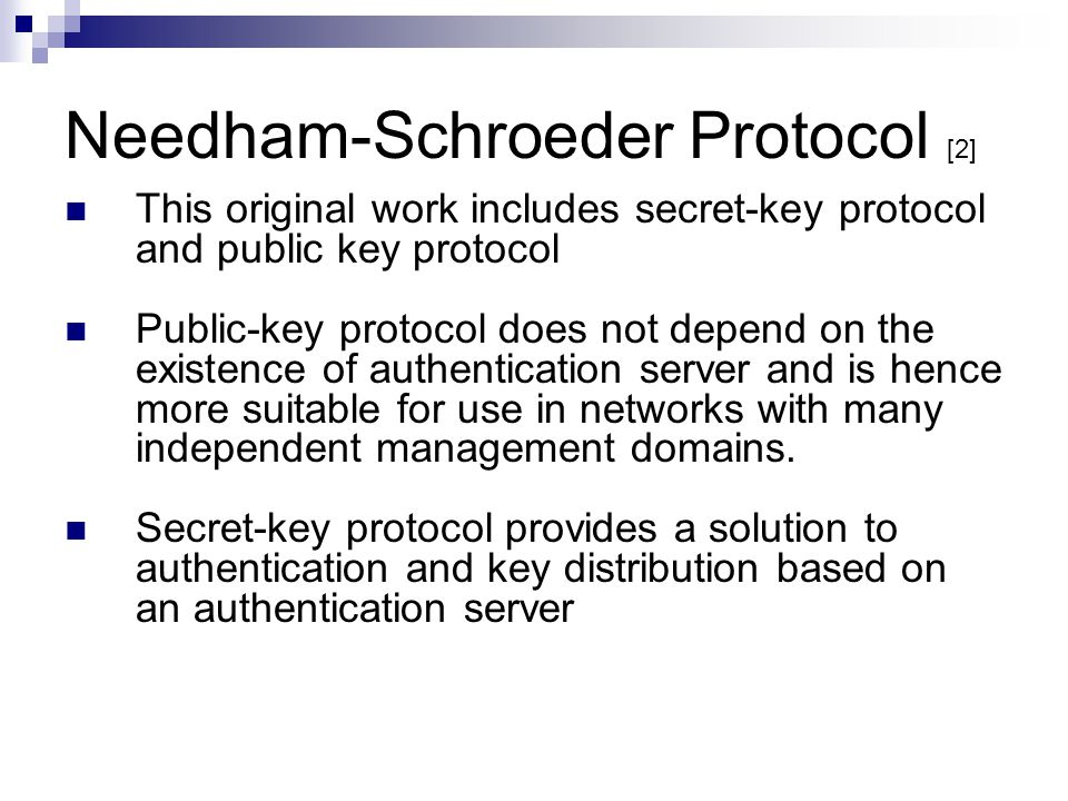 Needham-Schroeder Protocol [2]
